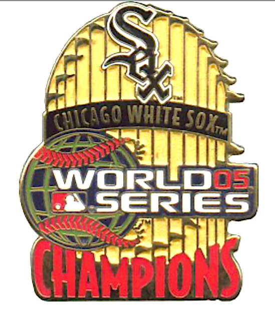 Chicago White Sox 2005 World Series Champions MLB PSG Flags Baseball Pin NEW - $12.49