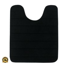 Black Toilet Carpet Contour Bath Rugs Rug Around Under Floor Mat Bowl No... - $20.80