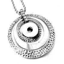 New Styles Metal Snap Jewelry 18mm Snap Button Necklaces & Pendants Snap... - $9.42
