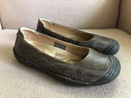 KEEN Golden Ballerina Flats Taupe Brown Gray Leather EUR 37 US womens 6.5 - $30.55
