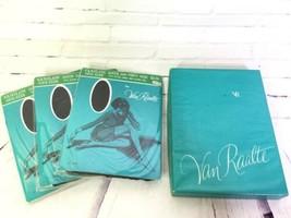 Vintage Van Raalte Vanilon 688 Brown X-Large Queen Pantyhose Hosiery 3pk... - $54.44