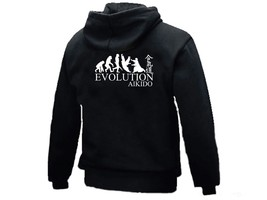 Aikido evolution MMA martial arts black man/women/junior graphic sweat h... - $18.99