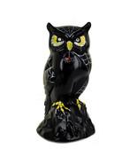 Vintage Fenton Halloween Black Glass Hand Painted Owl Figurine Statue 5.... - $193.49