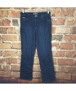Lee Relaxed Straight Leg Womens Jeans Size 10 Dark Wash 31 Inseam  - $16.83