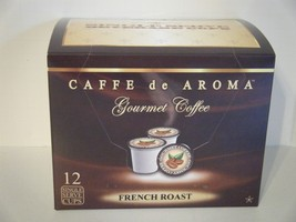 Caffe de Aroma French Roast Coffee 12 Single Serve K-Cups Free Shipping - $9.99