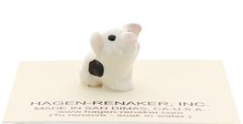 Hagen-Renaker Miniature Ceramic Pig Figurine Spotted Piglet Sitting