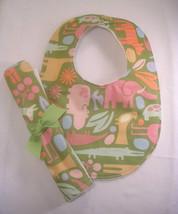 Bib and Burp Cloth Set, Baby Shower Gift Baby, Handmade - $10.95