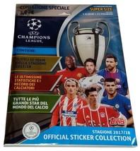 Champions League 2017-2018 Starter Empty Album + 21 Stickers Topps - $6.00