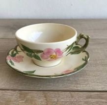 Set 6 Franciscan Desert Rose Tea Cups and Saucers Made in USA image 7