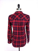 J.Crew Women Top XXS Flannel Shirt Boy Fit Soft Button Front Loose Fit image 4