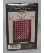 Great Amish Quilt Kit Log Cabin Cross Stitch Cross My Heart - $22.11