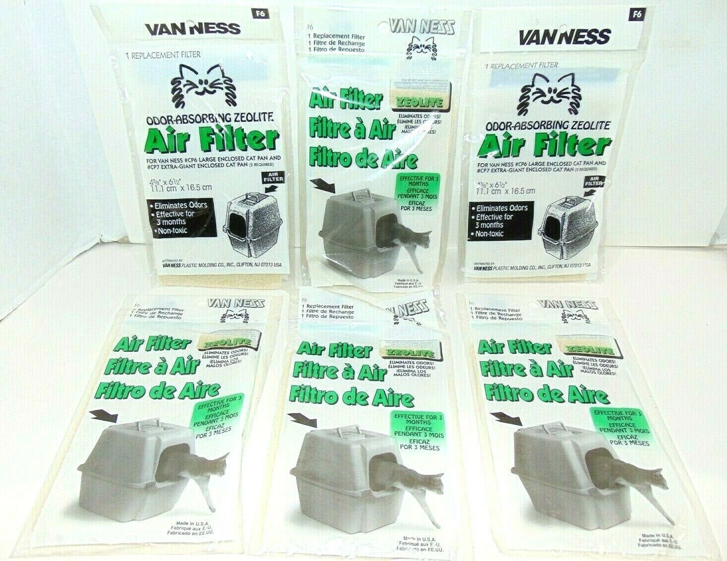 Primary image for Vanness 6 replacement filters odor-absorbing zeolite brand new ships very fast!