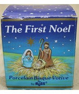 Russ The First Noel Christmas Porcelain Bisque Votive Candle Holder - $14.83