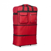 30 Inches Expandable Rolling Duffle Bag Wheeled Spinner Suitcase Luggage - $24.99