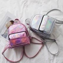 Holographic Mini Bag School Women Laser Backpacks Shoulder Travel Girls ... - €27,36 EUR