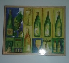 """WINE COLLAGE by Stamps Happen! LARGE Wood Rubber Mounted 5.5"""" x 4.5"""" - $7.87"""
