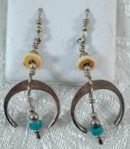 Sterling Silver Southwest Style Naja Dangle Earrings - £21.21 GBP