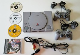 Sony Playstation 1 PS1 Video Game System/Console Bundle w/ 2 Controllers... - $28.84