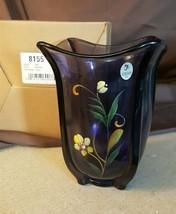 Fenton Art Glass Hyacinth SUMMER WHISPERS Hand Painted Large Vase #8155XF - $89.95