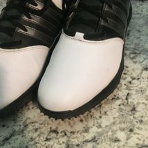 NIKE MENS Golf WHITE BLACK LEATHER 8 image 4