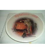 Norman Rockwell Waiting For Santa Christmas 2003 Plate w/ Box  - $13.99