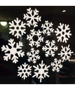 36 Shaped White Vinyl Christmas Snowflakes Window Removable Decals Decor... - $6.62