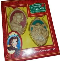 Applause Belle & Beast Cameo ORNAMENT SET NEW IN THE BOX  - $49.48