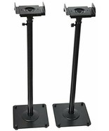 2 Heavy Duty PA DJ Club Adjustable Height Satellite Speaker Stand Mount - $56.82