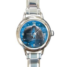 Ladies Round Italian Charm Bracelet Watch Dolphin Kiss Love Gift model 1... - $11.99