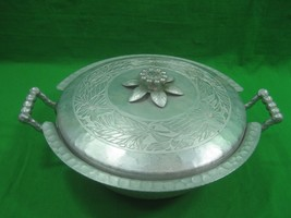 Vintage Everlast Hand Forged Aluminum Dish & Lid with Pyrex Glass Dish - $16.79