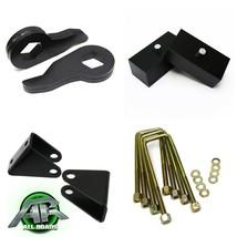 """Steel 1-3"""" Front + 2"""" Rear Block Lift Kit Fits 00-10 Chevy 2500 HD 4X2 4X4 - $149.00"""