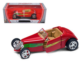 1933 Ford Roadster Red 1/18 Diecast Car by Road Signature - $85.00