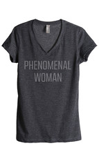 Thread Tank Phenomenal Woman Women's Relaxed V-Neck T-Shirt Tee Charcoal - $24.99+