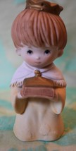 Vintage Boy with crown holding Gift figurine Homco #5609 4 inches tall - $6.79