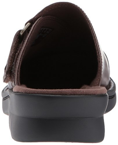 CLARKS Women's Patty Nell Mule, Dark Brown Leather, 10 M US