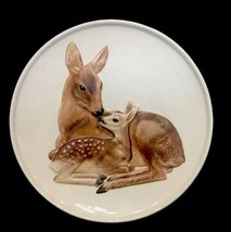 1978 Goebel W Germany Porcelain Mothers Series Doe & Fawn Plate Ready To... - $18.65
