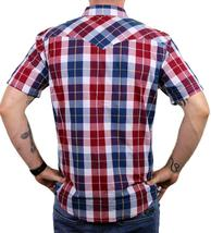 NEW LEVI'S MEN'S CLASSIC COTTON CASUAL BUTTON UP PLAID RED & NAVY 3LYSW0752 image 3