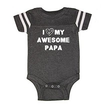 We Match! Unisex Baby - I Love My Awesome Papa Baby Bodysuit (16 Colors ... - $30.11