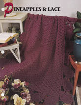 Pineapples & Lace, Annie's Crochet Quilt and Afghan Pattern Leaflet QAC3... - $2.95