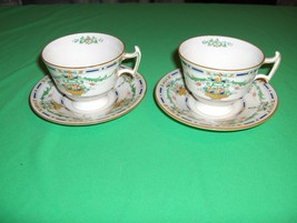 2 Vintage Royal Doulton The Ormonde Cup Sets Pointed Handle H3191 NICE - $64.35