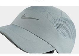 NEW! Nike Unisex Tailwind Aerobill Running Division Hat-Grey/Silver AJ45... - $49.38