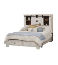 White King Size Anton Storage Bed - $1,925.55