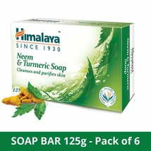 Himalaya Herbals Neem And Turmeric Soap, 125g (Pack Of 6) - $24.40