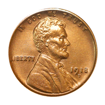 1918 D Lincoln Wheat Cent - Red Gem BU / MS RD / UNC - $197.45