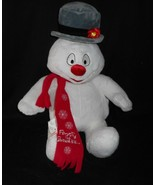 BUILD A BEAR LIGHT UP FROSTY THE SNOWMAN CHRISTMAS STUFFED ANIMAL PLUSH ... - $35.53