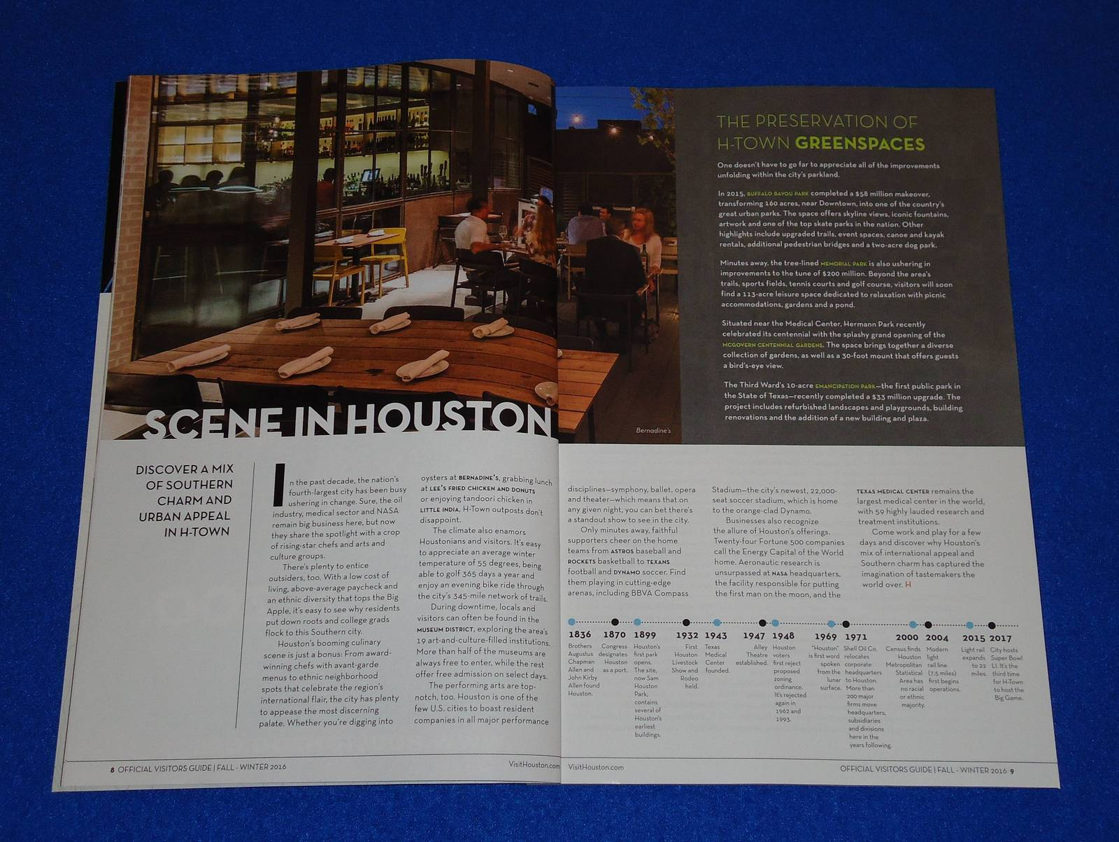 *NEW* VISIT HOUSTON OFFICIAL VISITOR'S GUIDE CITY DINING & MORE REFERENCE *MAP*