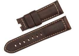 24/22mm Genuine Calf Leather Deployment Style Asso Watch Band for Panera... - $59.00