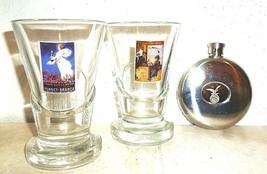 2 Fernet Branca Milano Italian Shot Glasses & Fernet Pocket Flask - $39.95