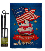 Happy Birthday America Burlap - Impressions Decorative Metal Garden Pole... - $33.97