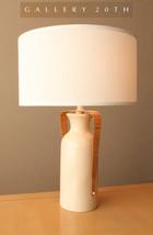 MID CENTURY DANISH MODERN PORCELAIN TABLE LAMP! Eames Vtg 50s Rattan Mil... - €741,42 EUR
